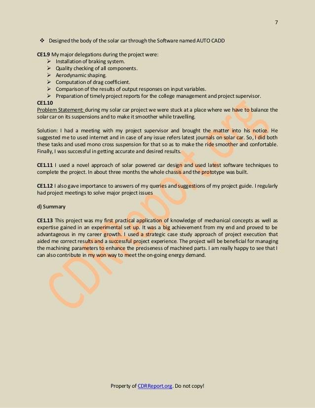 mechanical engineering cdr sample anzsco code 233512 rh slideshare net