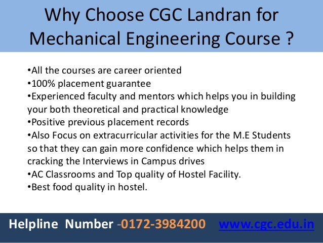 why did i choose mechanical engineering