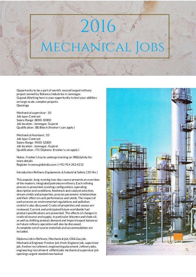Diploma in mechanical engineering jobs in gujarat