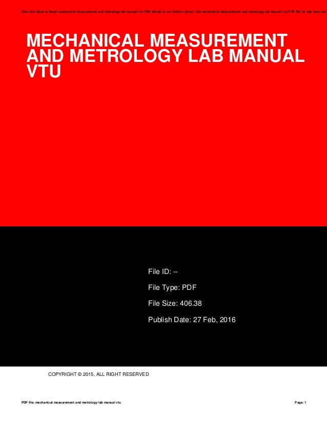 mechanical measurement and metrology lab manual vtu rh slideshare net mechanical measurement and metrology lab manual Metrology Lab Layouts