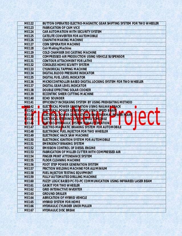 Automobile Mini Projects Pdf