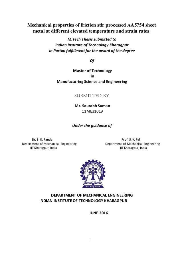iit kharagpur m tech thesis format