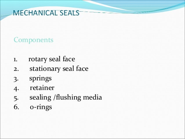 Mechanical seal for pumps