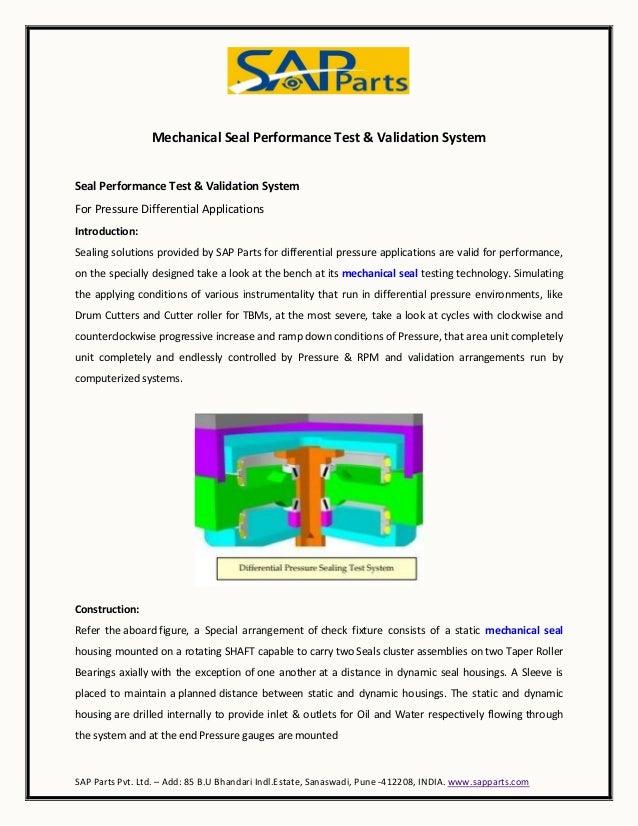 Mechanical seal performance test &