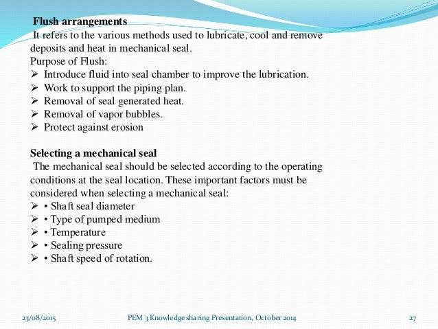Mechanical seal presentation 1