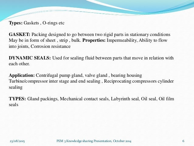 Mechanical seal presentation 1