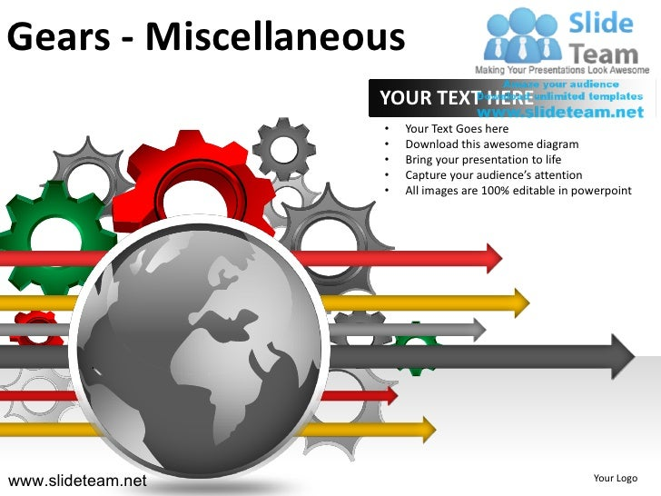Gears - Miscellaneous                    YOUR TEXT HERE                    •   Your Text Goes here                    •   ...