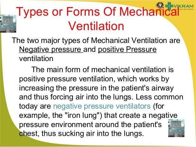 Types Of Ventilators : Mechanical ventilation