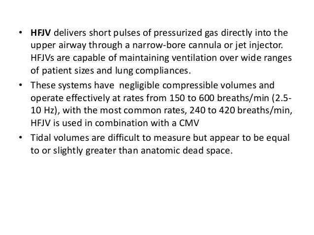 • Moderate PEEP 4-5 cm H2O • Low PIP 10-20 cm H2O • Short Ti 0.25-0.4 s • Low tidal volume 3-6ml/kg • Early extubation to ...
