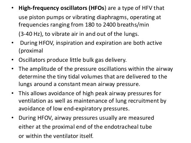 • Ventilator adjustments:Co2 elimination is better achieved by increasing rate rather than by increasing the PIP, as an in...