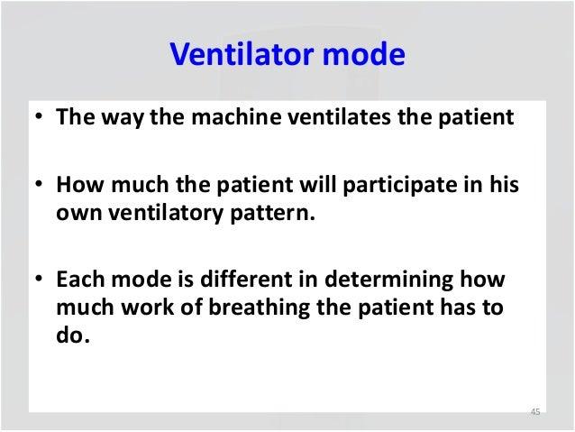 Mechanical Ventilation Ppt