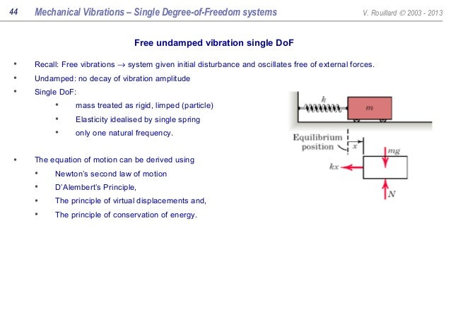 Free mechanical vibration download ebook