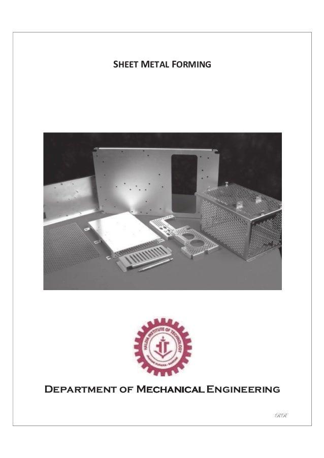 sheet metal workshop practice manual