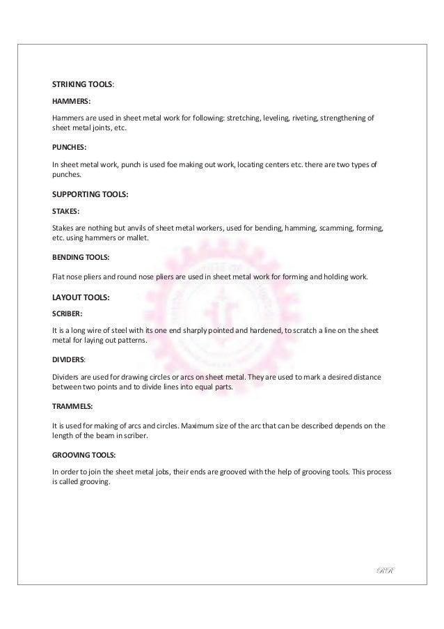 Mechanical Engineering Workshop Practice Laboratory Manual