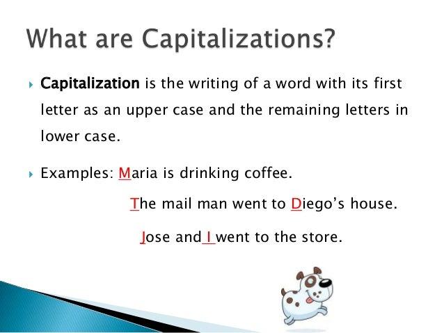 Mechanics capitalization 4 grade 6 capitalization is the writing spiritdancerdesigns Choice Image