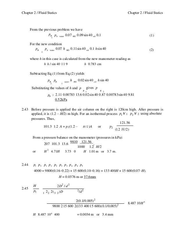 mechanics of fluids potter solution manual
