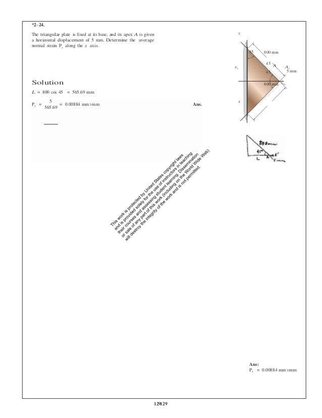 Mechanics of materials 10th edition hibbeler solutions manual