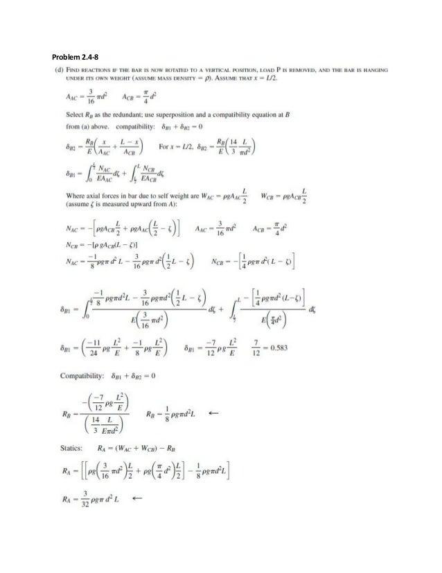 mechanics of materials solution manual