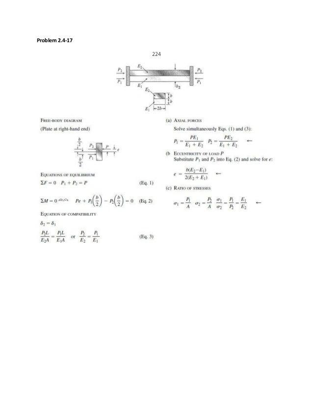mechanics of materials solutions pdf