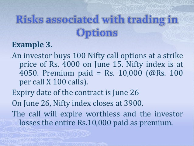 Hedging strategies using nifty options