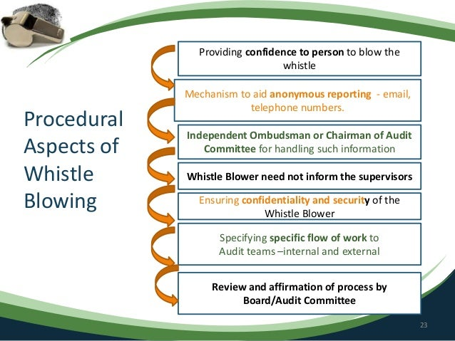 the whistle blower responsibility Mspb defines whistleblower retaliation any other significant change in duties, responsibilities, or working conditions the third item on this list, disciplinary or corrective actions, applies to more than just.