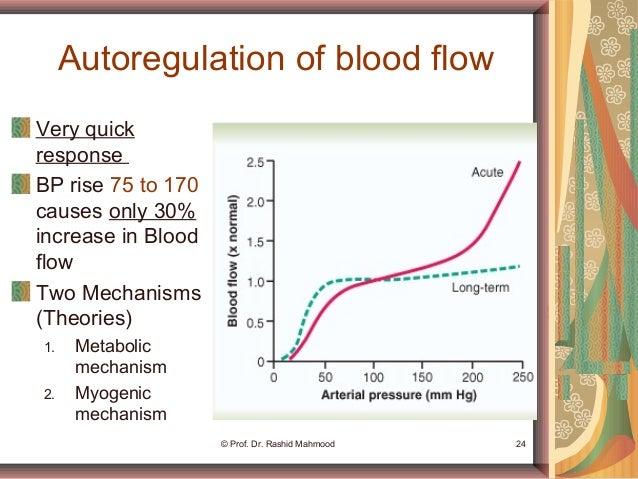 local blood flow regulation mechanisms
