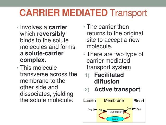 FACILITATED DIFFUSION               • Facilitated diffusion is a                 form of carrier transport                ...