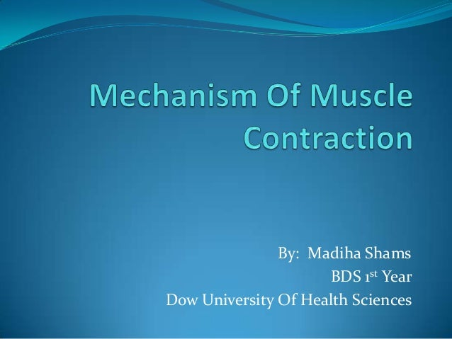 By: Madiha Shams BDS 1st Year Dow University Of Health Sciences