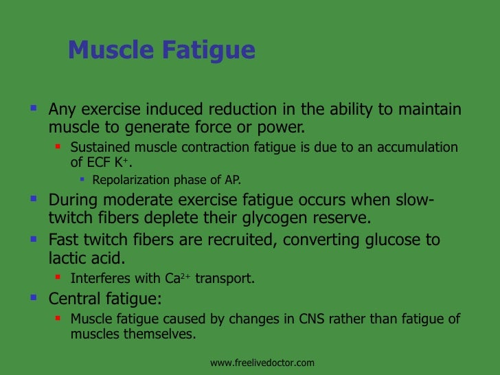 how fast muscle fatigue Everything you need to know about exercise and fatigue  december 2012 everything you need to know about exercise and fatigue   muscle fatigue.