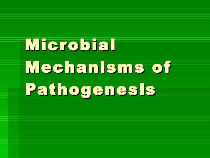 Microbial Mechanisms of Pathogenesis