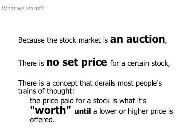 Mechanism of stock trading - 웹
