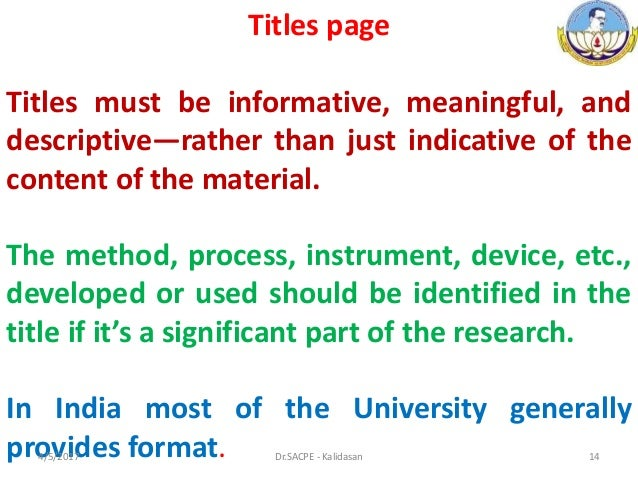 Mechanism Of Writing Thesis And Dissertation