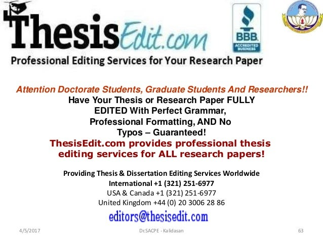 Professional proofreading dissertation