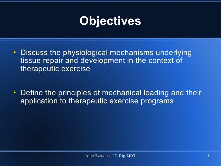 Mechanisms Of Therapeutic Exercise Progression Tpta