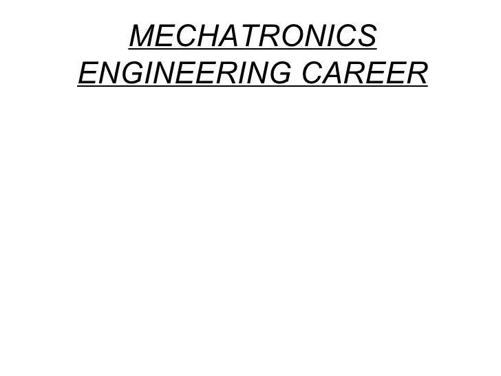 MECHATRONICS ENGINEERING CAREER