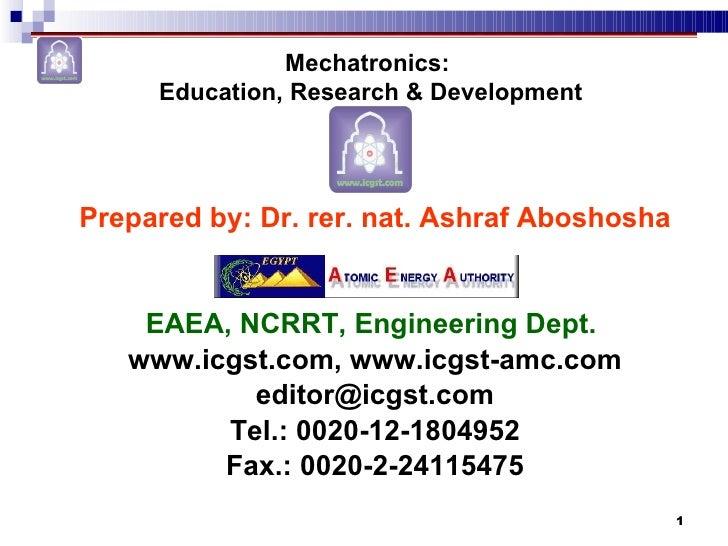 <ul><li>Prepared by: Dr. rer. nat. Ashraf Aboshosha </li></ul><ul><li>EAEA, NCRRT, Engineering Dept.  </li></ul><ul><li>ww...