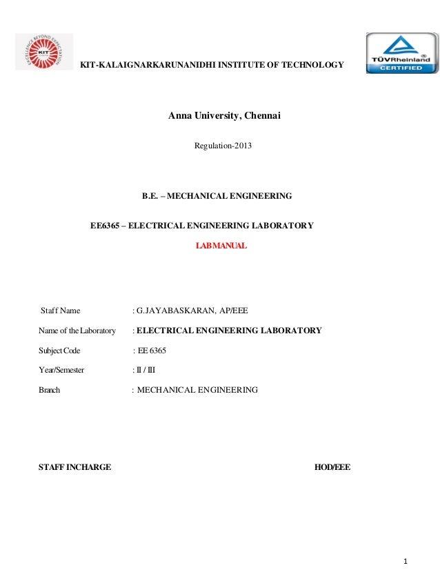 mech ee6365 ee lab manual rh slideshare net anna university environmental engineering lab manual anna university thermal engineering lab manual pdf