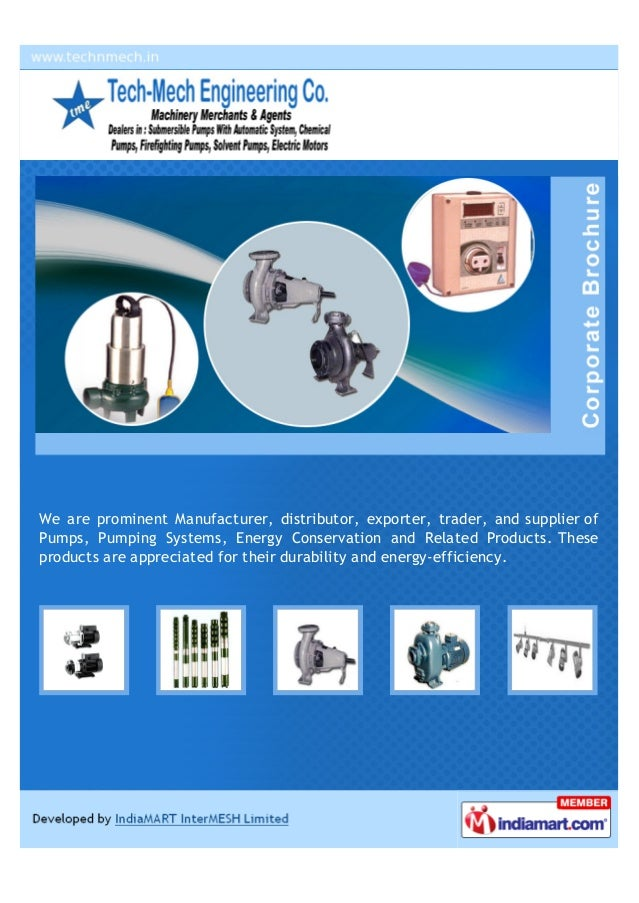 We are prominent Manufacturer, distributor, exporter, trader, and supplier ofPumps, Pumping Systems, Energy Conservation a...