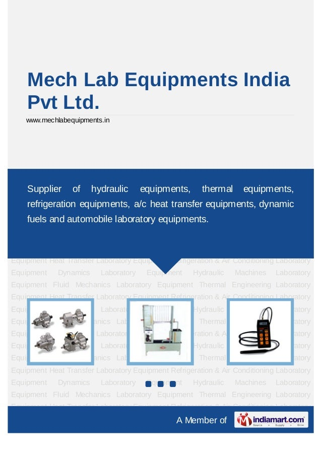 Mech Lab Equipments India    Pvt Ltd.    www.mechlabequipments.inHydraulic Machines Laboratory Equipment Fluid Mechanics L...