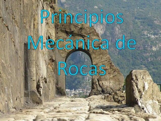 Se ocupa del estudio teórico y práctico de las  propiedades y comportamiento mecánico de losmateriales rocosos y de su res...