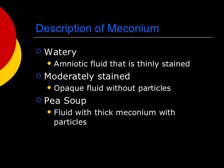 meconium stained amniotic fluid thesis 1 intralipid treatment for newborns with meconium stained amniotic fluid (msaf) joseph eldor, md theoretical medicine institute, jerusalem, israel.