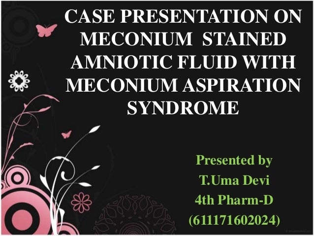 meconium stained amniotic fluid thesis