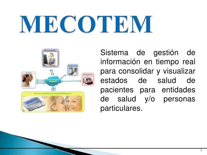 Sistema de gestión deinformación en tiempo realpara consolidar y visualizarestados de salud depacientes para entidadesde s...
