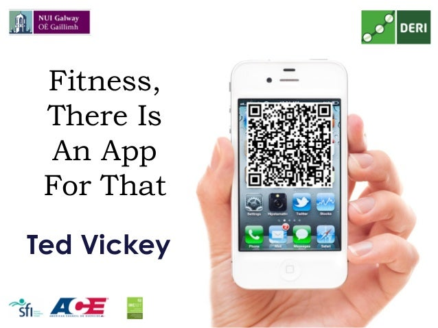 Fitness, There Is An App For That Ted Vickey