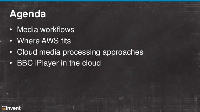AWS re:Invent 2013 Scalable Media Processing in the Cloud Slide 2