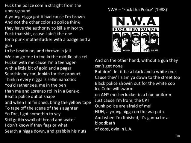 The best: lyrics fuck the police fuck the