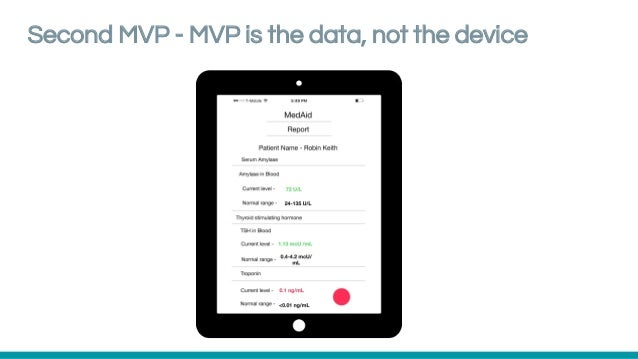 Second MVP - MVP is the data, not the device