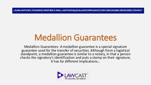Medallion Guarantees