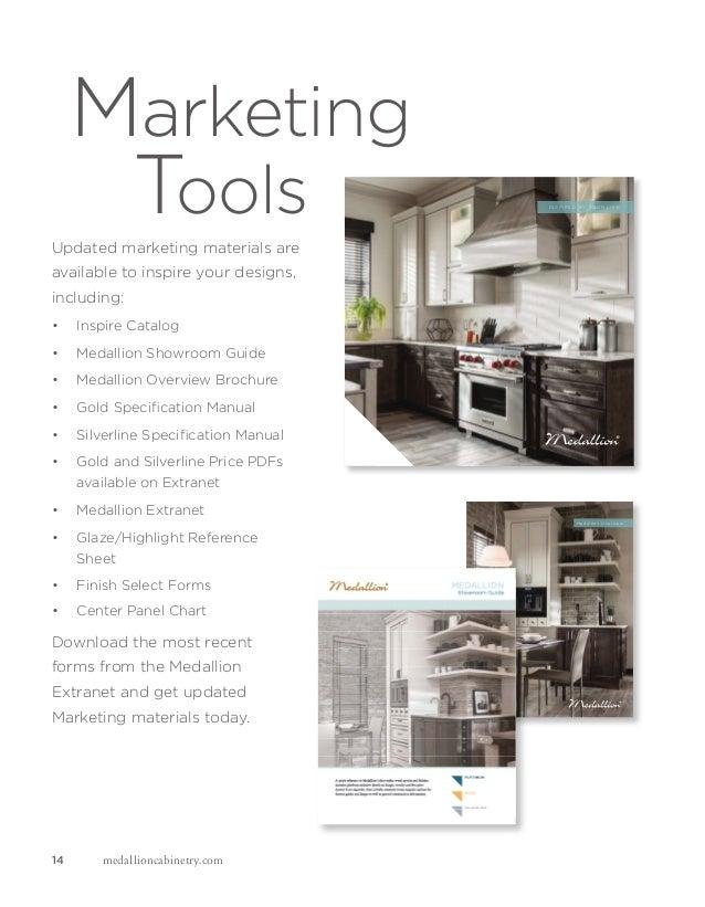 KENDRICK OAK ISLANDER SHEER SMART STORAGE BASE CABINET; 14. Marketing Tools  14 Medallioncabinetry.com ...