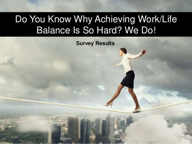 Do You Know Why Achieving Work/Life Balance Is So Hard? We Do! Survey Results